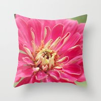 Zinnia & The Ladybug Throw Pillow