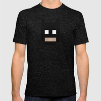 hero pixel black Mens Fitted Tee Tri-Black SMALL