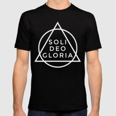THE FIVE SOLAS: SOLI DEO GLORIA Mens Fitted Tee Black SMALL
