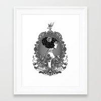 Menina Roza Framed Art Print