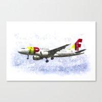 Air Portugal Airbus A319… Canvas Print