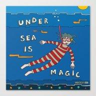Snorkeling Boy Canvas Print