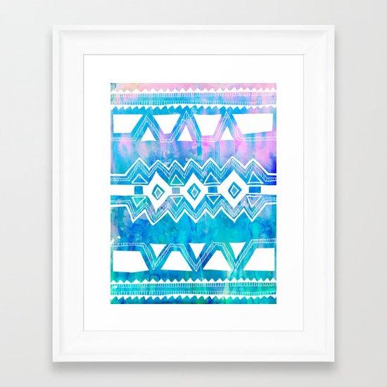 PATTERN {Tribal 002} Framed Art Print