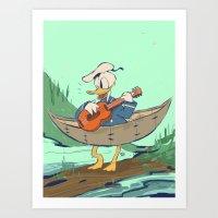 Donald's Vacation Art Print