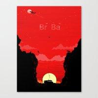 Break Bad - The Desert Canvas Print