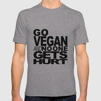 GO VEGAN AND NO ONE GETS… Mens Fitted Tee Athletic Grey SMALL