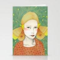 Stationery Cards featuring Dana 2 by Sofia Bonati