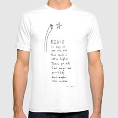 reach as high as you can Mens Fitted Tee White SMALL