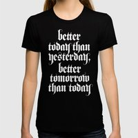 Be Better (b&w Variant) Womens Fitted Tee Black SMALL