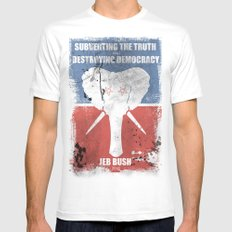 SUBVERTING THE TRUTH  Mens Fitted Tee White SMALL