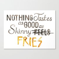 Skinny Fries Canvas Print