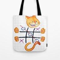 Tic Cat Toe Tote Bag