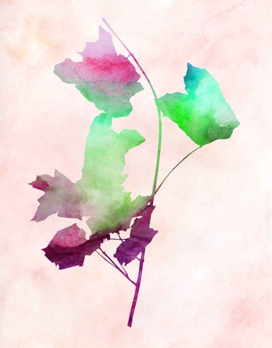 Maple_Watercolor2 by Jacqueline and Garima Art Print
