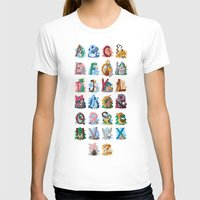 alphabet T-shirts featuring Alphabet by Dinett illustration