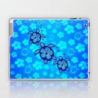 Laptop & iPad Skin featuring 3 Blue Honu Turtles by MacDonald Creative S…
