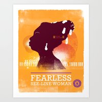 Fearless: See-line Woman Art Print