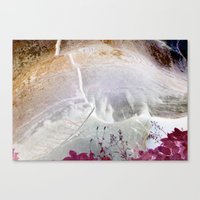 Red Erode Canvas Print