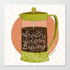 French Pressed Ideas  Canvas Print