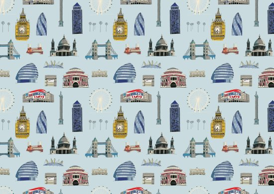 All of London's Landmarks  Art Print