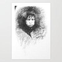 Inuit Boy Art Print