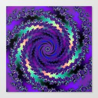 Purple Hurricane Fractal Canvas Print