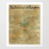The Production Of Laught… Art Print