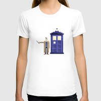 Retro Who Womens Fitted Tee White SMALL
