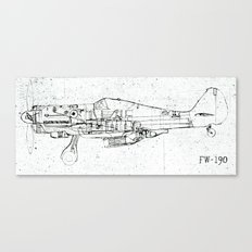 FW - 190 ( B & W) Canvas Print