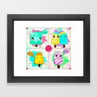 lolly pops Framed Art Print