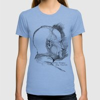 Stay Hungry, Stay Foolish. Steve Jobs 1955–2011 Womens Fitted Tee Athletic Blue SMALL