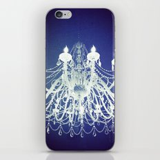 Chandelier | Black and White Photography | Romantic, Sparkly, Dreamy Light iPhone & iPod Skin