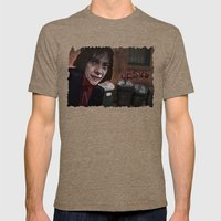 Busker Jesus Mens Fitted Tee Tri-Coffee SMALL