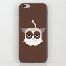 Grumpy Chubby Cat iPhone & iPod Skin