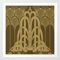 Gilded Glamour Art Print