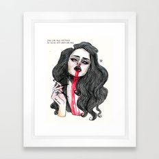 ''Cause I was filled with poison But blessed with beauty and rage'' Framed Art Print
