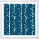 InfinityTrees in Petrol Blue Art Print