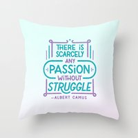 Camus on Passion Throw Pillow