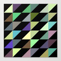 Tilted rectangles pattern Canvas Print