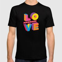 Spread Love Mens Fitted Tee Black SMALL