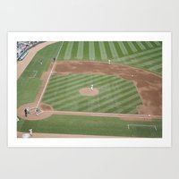 Baseball game Art Print
