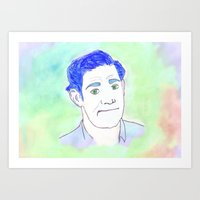 Jim Halpert Face.  Art Print