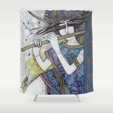 BLUE MELLODY Shower Curtain