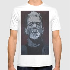 Frankenstein Mens Fitted Tee SMALL White