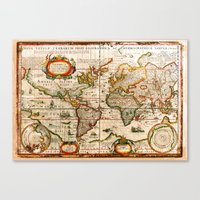 Vintage Map Canvas Print