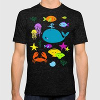 Under The Sea Mens Fitted Tee Tri-Black SMALL