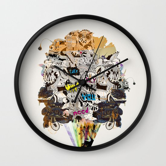 Drawing Collage #03 Wall Clock
