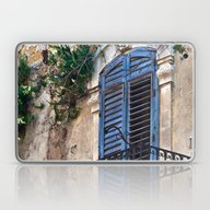 Blue Sicilian Door On Th… Laptop & iPad Skin