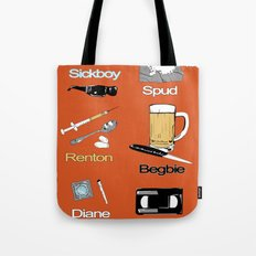 Trainspotting vector Tote Bag