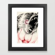 Framed Art Print featuring Ursidae by John Ryan Solis