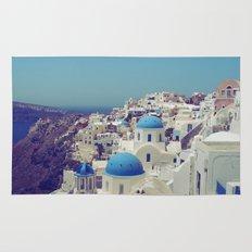Blue Domes II, Oia, Santorini, Greece Rug